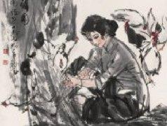 黄胄画集:黄胄的水墨写意人物画16P