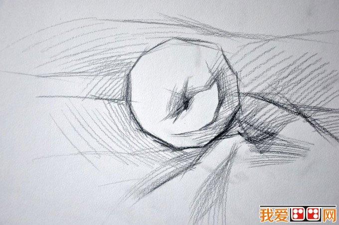 水粉静物学习:单个苹果画法,苹果水粉画法步骤01-水粉画苹果绘画