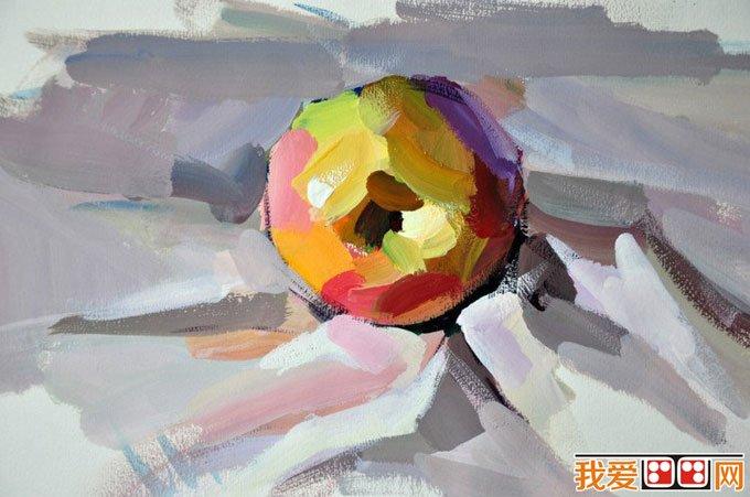 水粉画苹果绘画教程 单个苹果的水粉画法 4