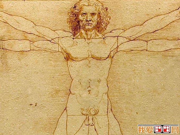 维特鲁威人_达芬奇著名人体钢笔画素描手稿(3)