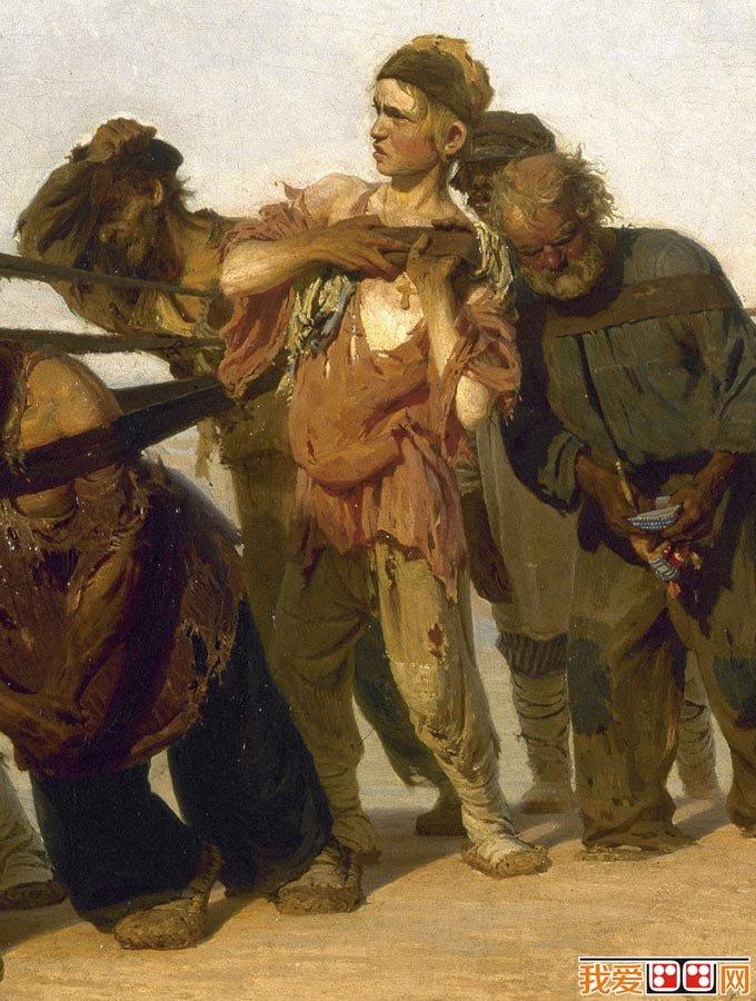 首页 世界名画 油画风景 > 伏尔加河上的纤夫_列宾成名作,现实主义