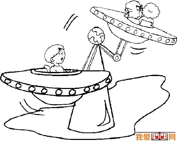 儿童游乐场简笔画 游乐场设施简笔画图片大全(6)