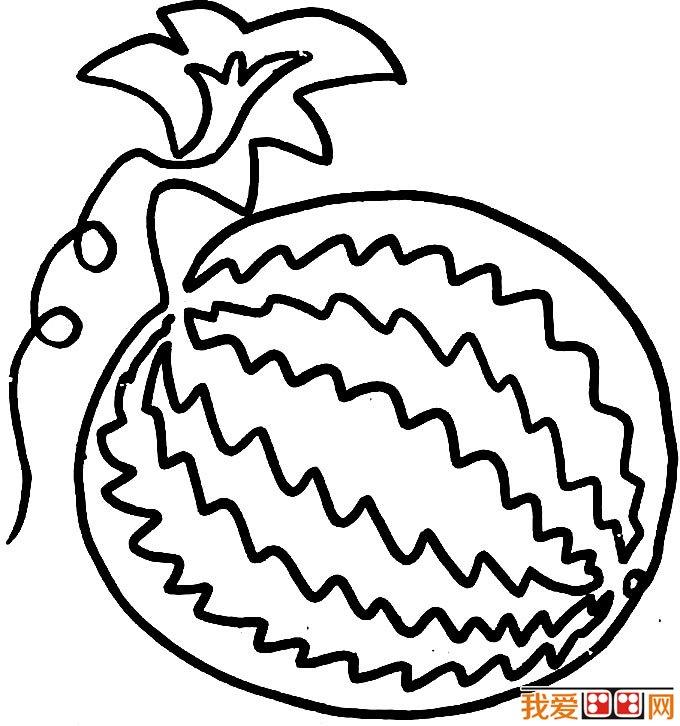 西瓜简笔画图片 各种各样的简笔画西瓜图片12副(5)