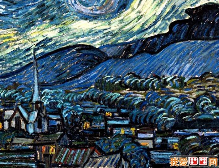 梵高《星空》_梵高最著名油画风景作品高清图文赏析
