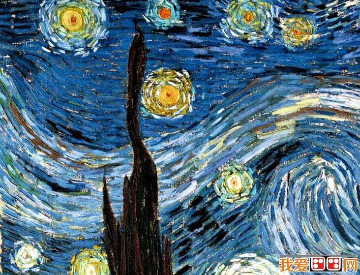 梵高《星空》_梵高最著名油画风景作品高清图文赏析(2