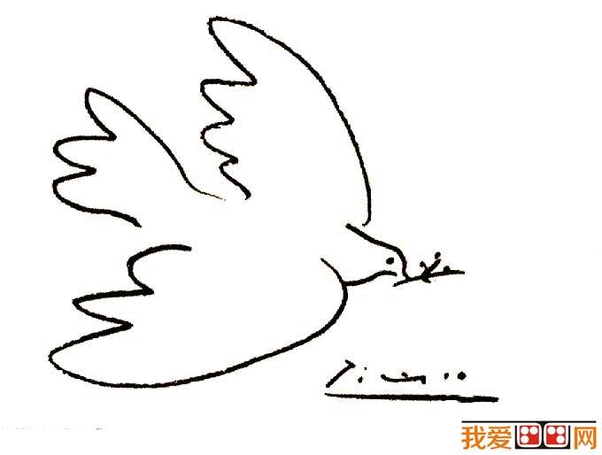 索12副和平鸽简笔画原图赏析