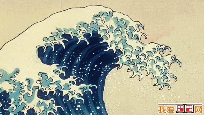 葛饰北斋《神奈川冲浪图》_日本浮世绘风俗风景画代表