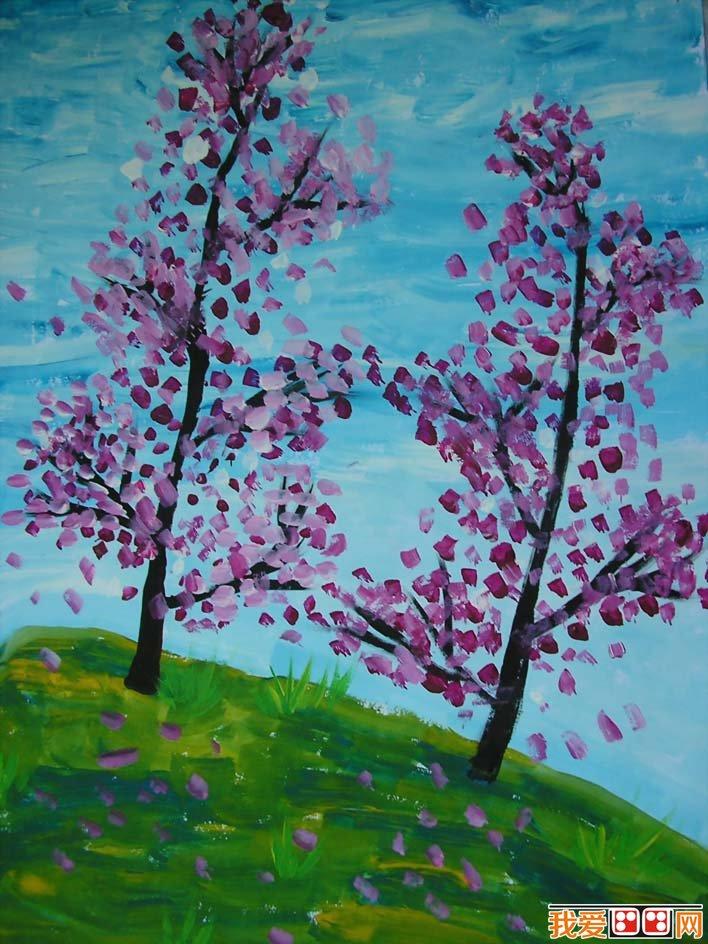 王凯宇6副静物水粉画和风景水粉儿童画作品欣赏(3)