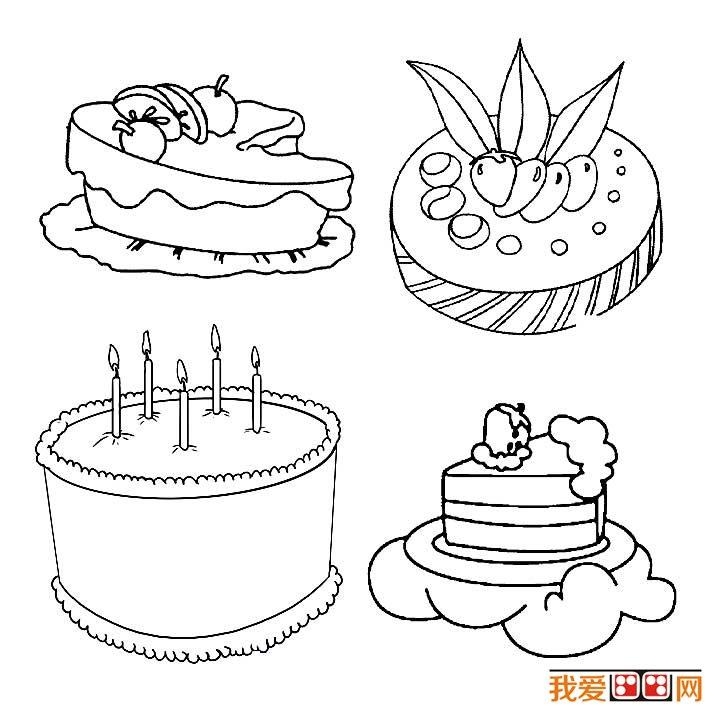 生日蛋糕简笔画图片大全(2)