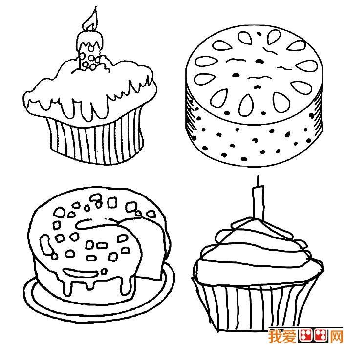 生日蛋糕简笔画图片大全(3)