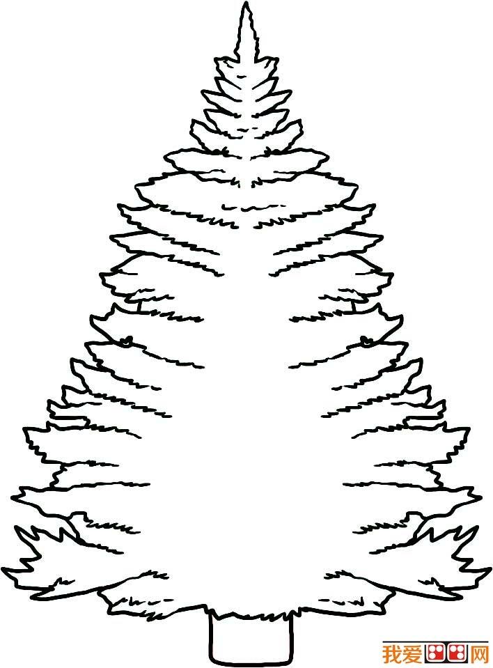 学画画 儿童画教程 简笔画 > 大树简笔画,各种各样的树简笔画图片(2)