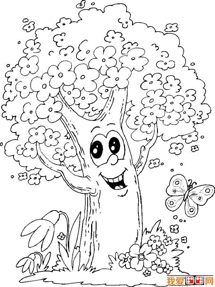 大树简笔画,各种各样的树简笔画图片(5)