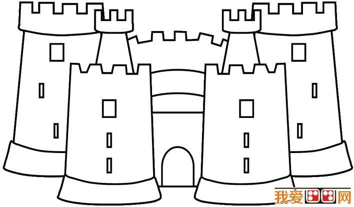 童话城堡房子简笔画