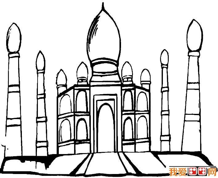 城堡简笔画,童话城堡简笔画图片大全