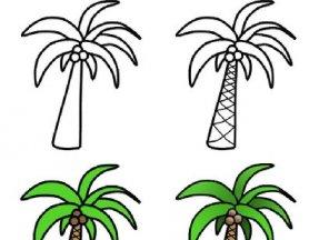 大树简笔画,各种各样的树简笔画图片 2
