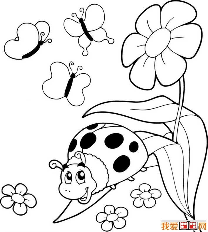 七星瓢虫简笔画图片大全 可爱的简笔画七星瓢虫图片(5)