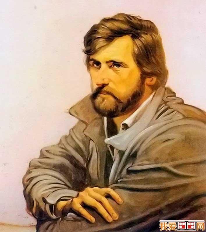 委罗内塞油画技法画绘画男子半身油画肖像的教程步骤