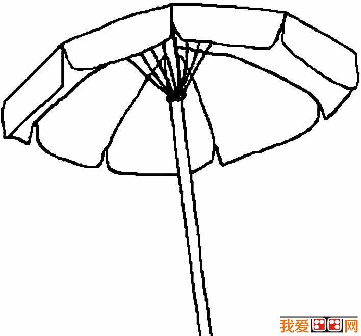 雨伞简笔画图片大全 各种各样的小雨伞简笔画(5)