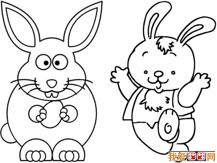 兔子头像简笔画,简单的儿童画兔子的画法等兔子简笔