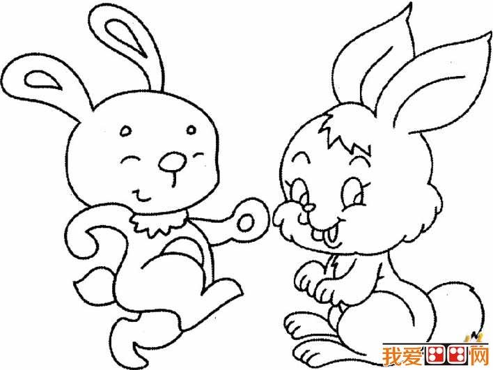 简笔画兔子图片大全,儿童简笔画兔子卡通图片 4