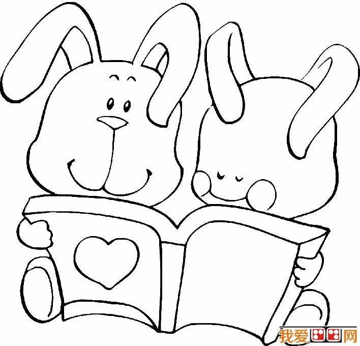 简笔画兔子图片大全,儿童简笔画兔子卡通图片 7