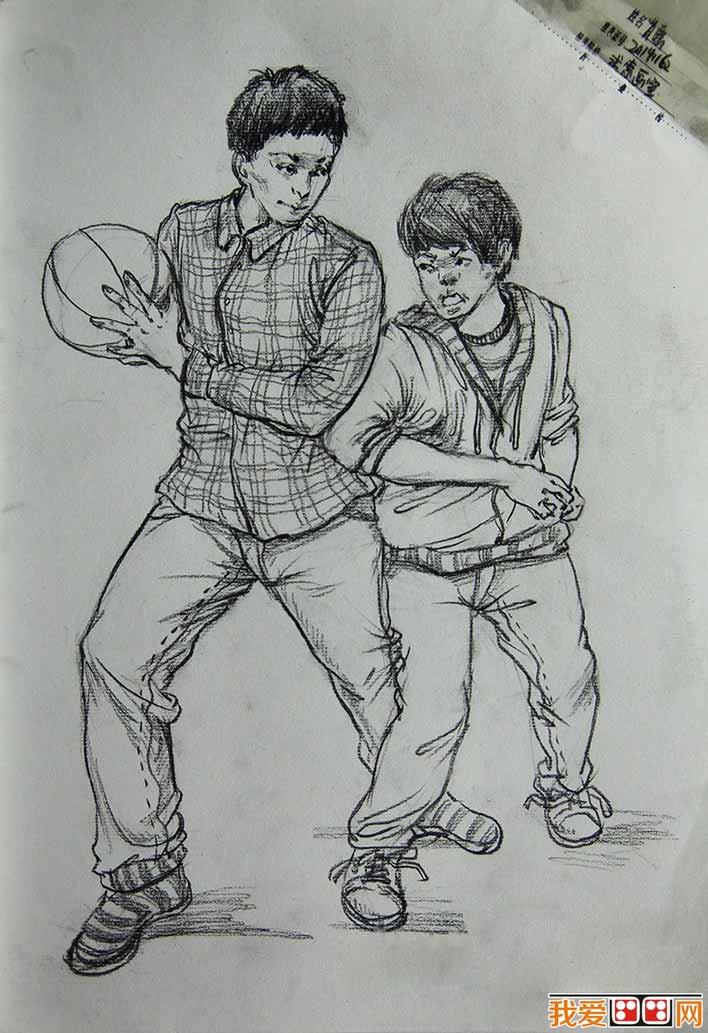 幼儿园简笔画图片打篮球