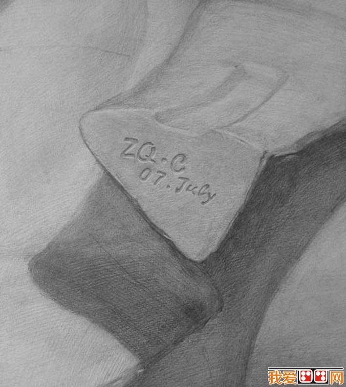 强烈质感写实素描静物和石膏像大卫优秀作品欣赏 3