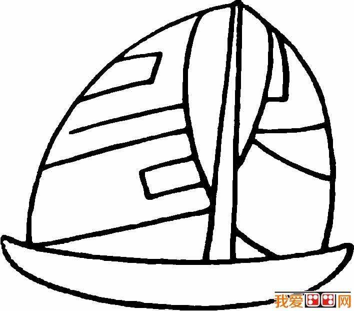 帆船简笔画图片,卡通帆船简笔画大全(6)