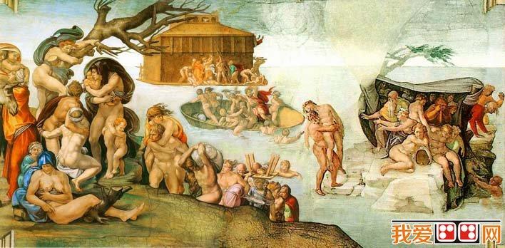 《大洪水》_米开朗基罗《创世纪》西斯廷天顶壁画局部