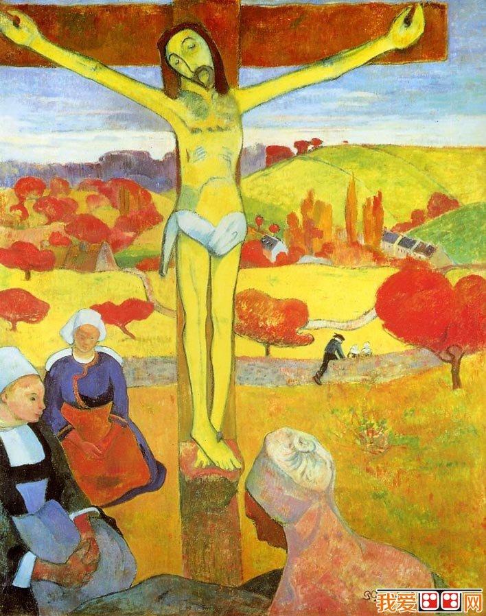 百科 世界名画 人物油画 > 高更《黄色基督》_高更综合主义绘画风格