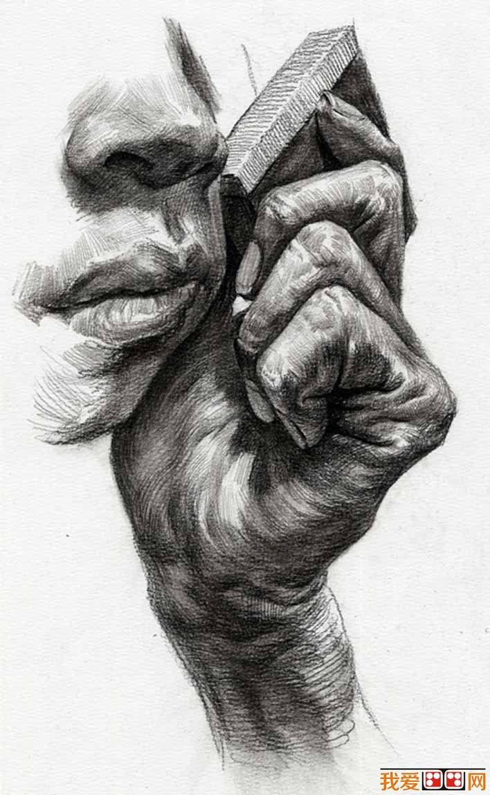 手部的素描图片大全25p各种各样的素描手势的画法