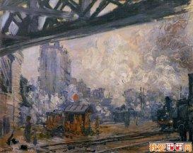 莫奈《圣拉扎尔火车站》系列组图12副高清大图欣赏