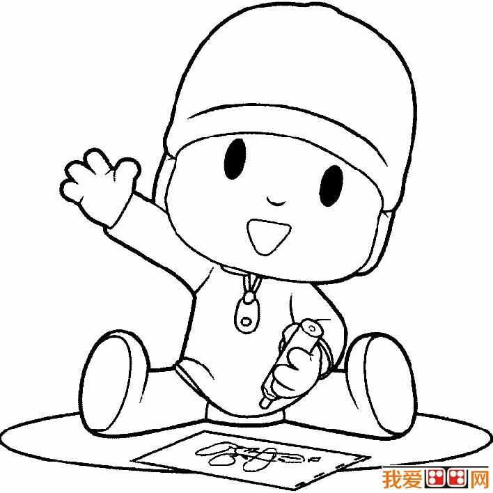 小男孩简笔画图片大全 卡通小男孩简笔画,调皮的小男孩简笔画