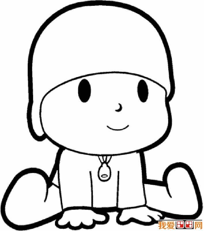 小男孩简笔画图片大全:卡通小男孩简笔画