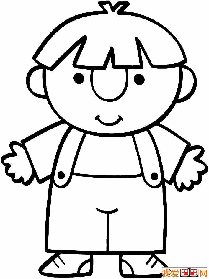 小男孩简笔画图片大全:卡通小男孩简笔画,调皮的小男孩简笔画(3)