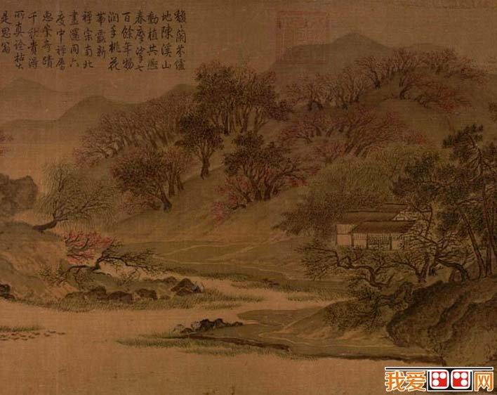 惠崇《溪山春晓图》_宋代描绘江南平原山水景色的山水画长卷高清(4)图片