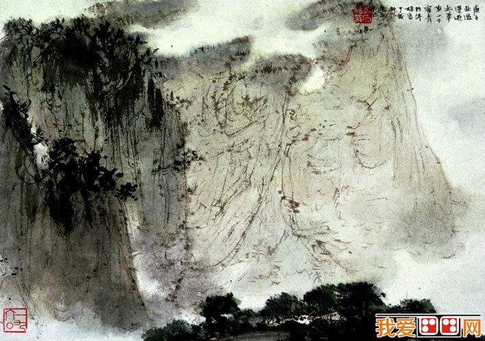 傅抱石《漫游太华》_傅抱石第一幅华山风景山水画作品