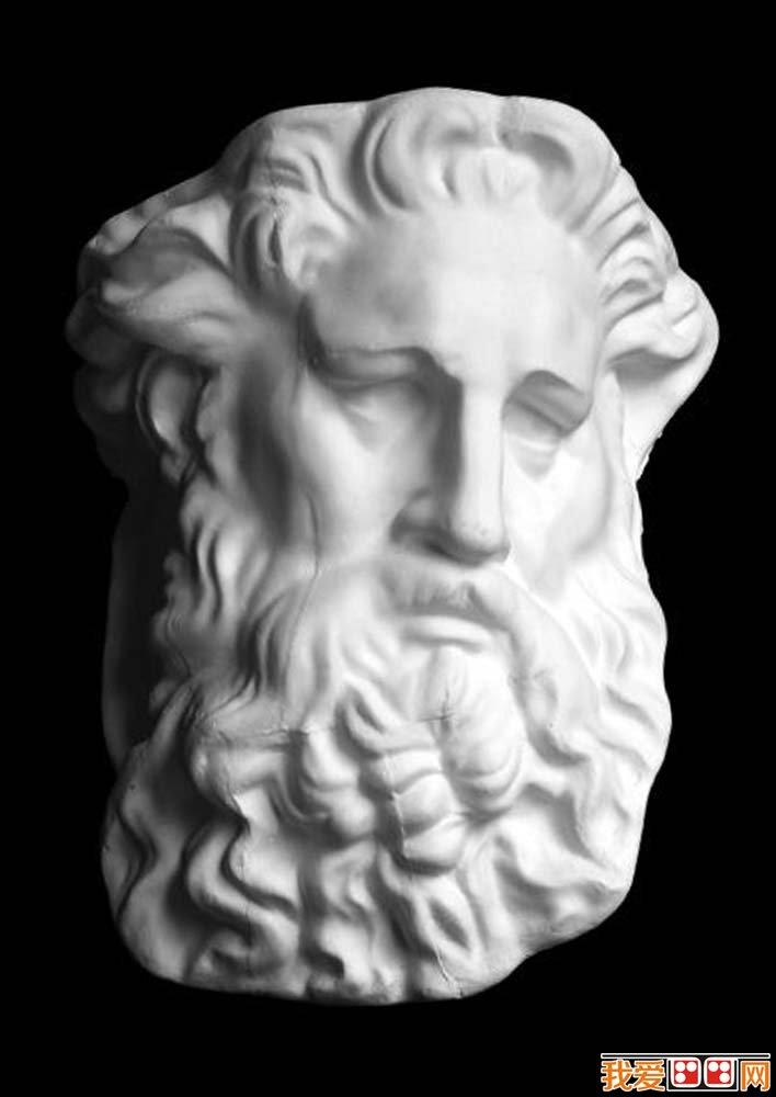 摩西石膏像,摩西素描头像面部像,摩西石膏素描图片