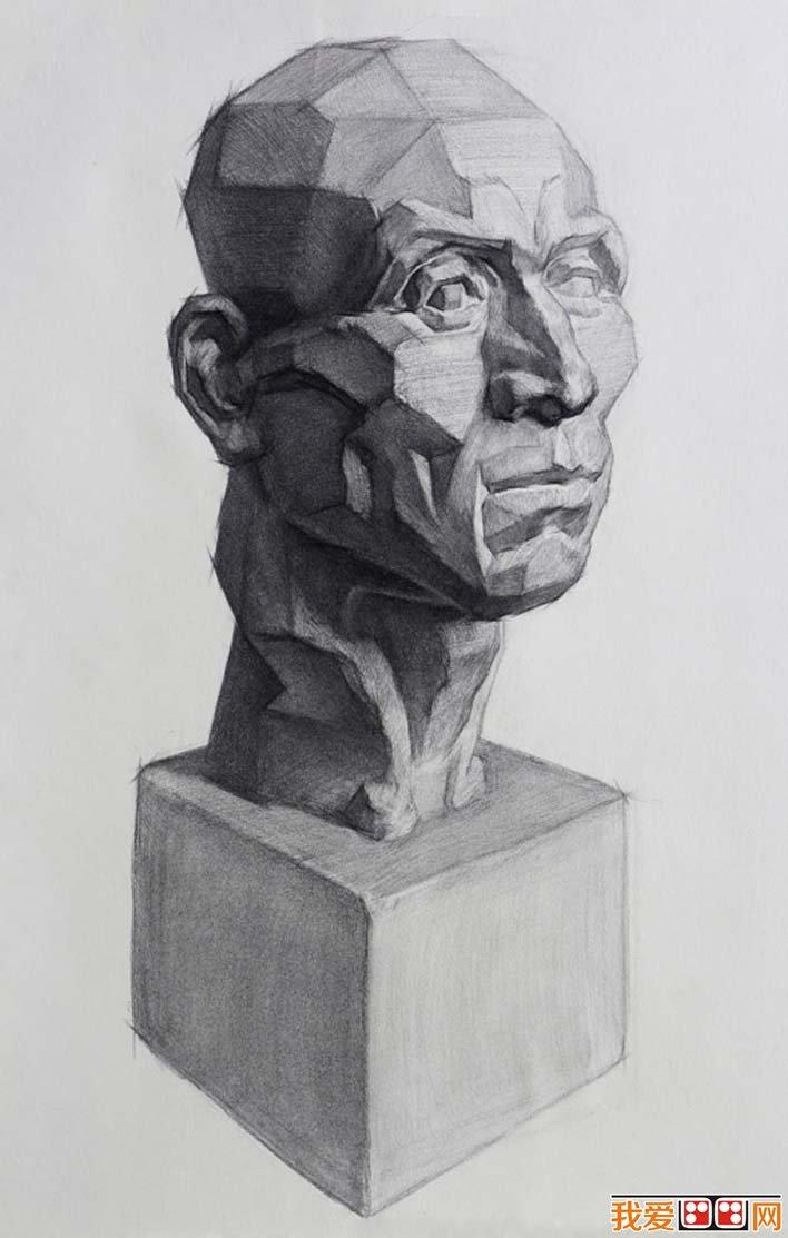 男子头部石膏像,男子头部石膏像素描头像图片