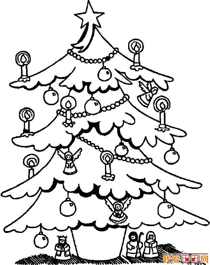 朋友们都爱画的素材,各种各样的圣诞树简笔画增加了圣诞节的节日气氛