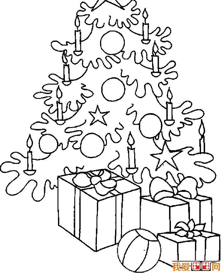 圣诞树简笔画图片大全,各种各样的简笔画圣诞树(4)