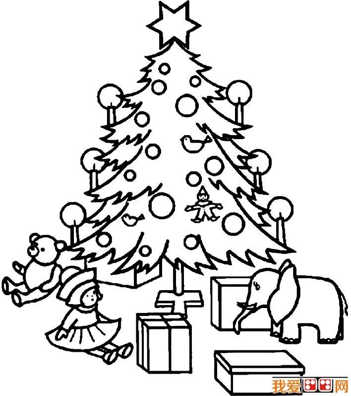 圣诞树简笔画图片大全,各种各样的简笔画圣诞树(5)