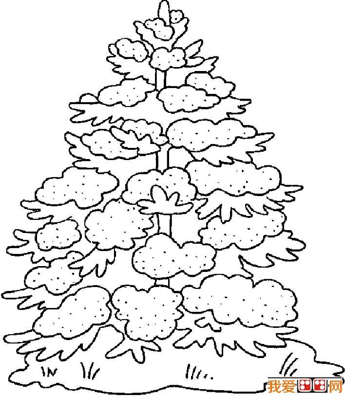 圣诞树简笔画图片大全,各种各样的简笔画圣诞树 6