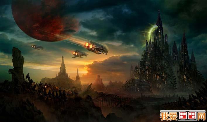 未来城市科幻画,科学幻想未来城市科幻图片高清大图