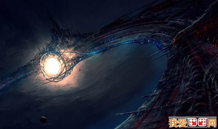 未来城市科幻画,科学幻想未来城市科幻图片高清大图 3