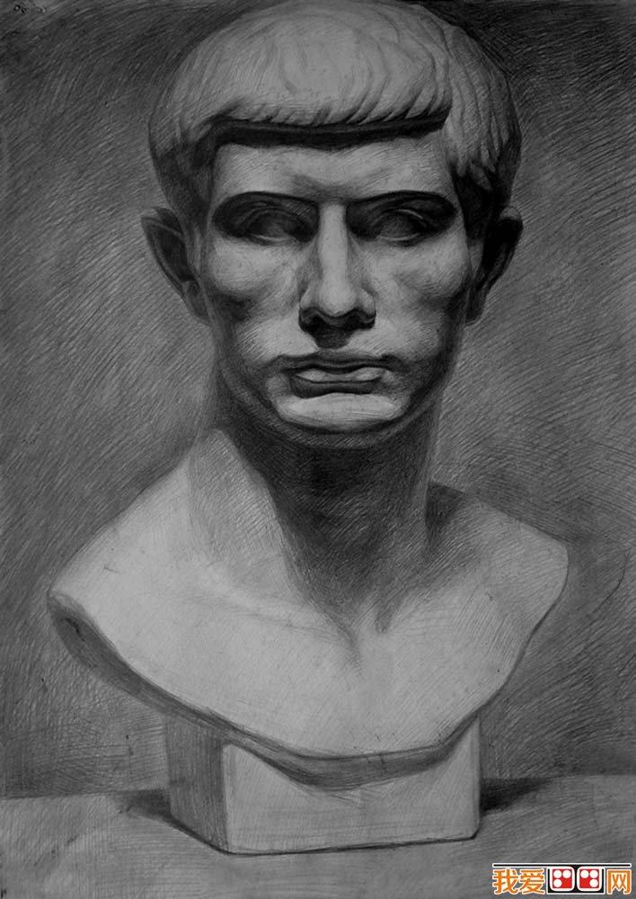 罗马女生石膏像,罗马高清素描照片,罗马照片石真实青年青年头像青年图片