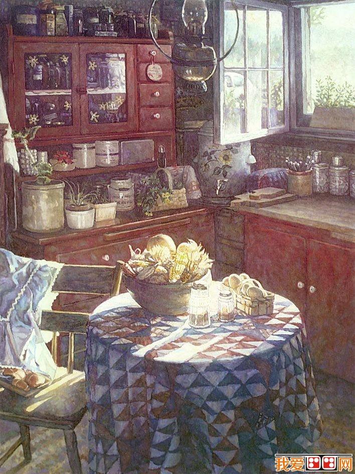 太原唐晋画室 steve hanks写实风景水彩画和静物水彩画作品图片16p