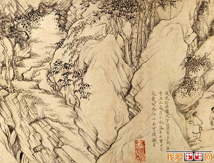 乔仲常《后赤壁赋图》_宋代白描山水画长卷后赤壁赋图图片