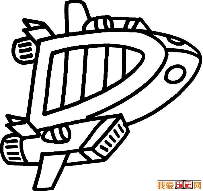 宇宙飞船简笔画图片大全,各种各样的宇宙飞船简笔画