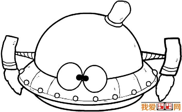 宇宙飞船简笔画图片大全,各种各样的宇宙飞船简笔画 2